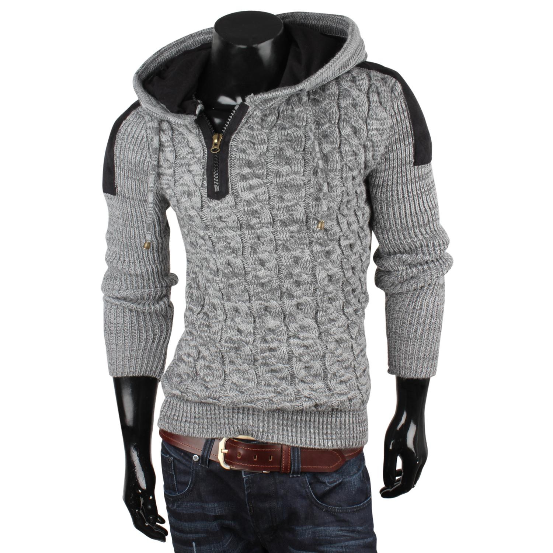 tazzio herren pullover 85769 grobstrick pulli sweatshirt strickjacke jacke neu ebay. Black Bedroom Furniture Sets. Home Design Ideas
