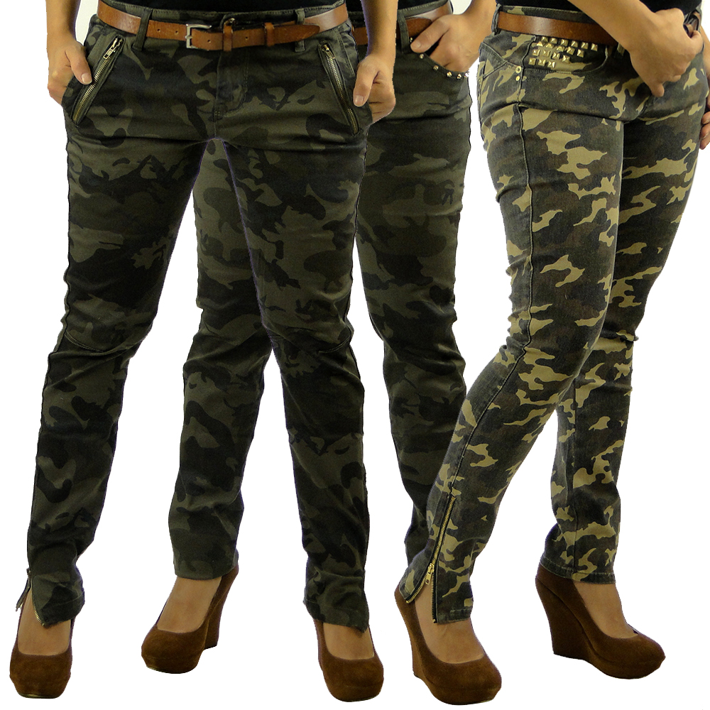 sexy damen armee army jeans 85020 hose r hrenjeans r hrenhose h fthose 34 42 ebay. Black Bedroom Furniture Sets. Home Design Ideas