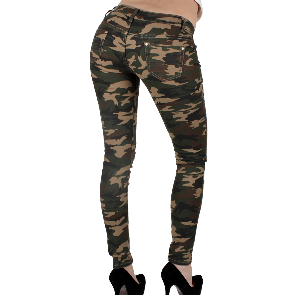 sexy damen armee army jeans 85084 hose r hrenjeans. Black Bedroom Furniture Sets. Home Design Ideas