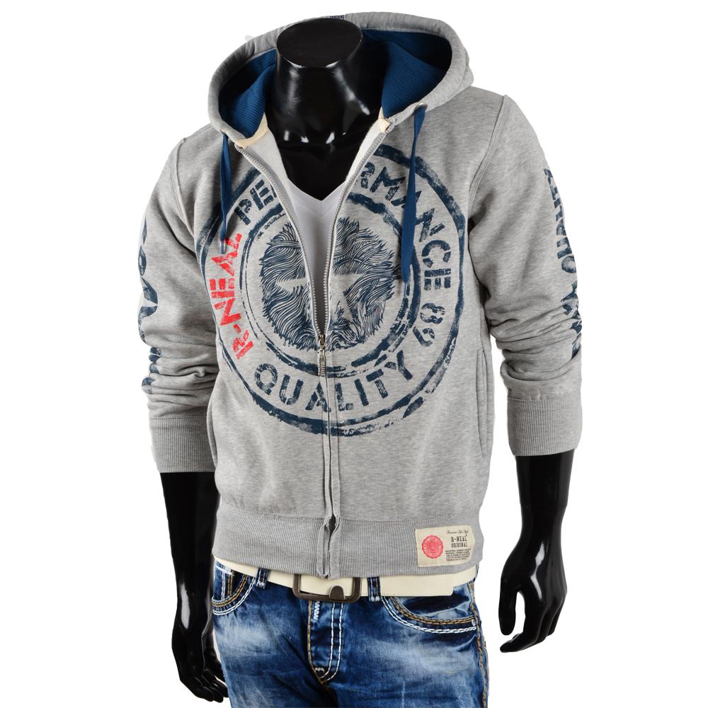 r neal herren kapuzen pullover 85235 sweatshirt jacke zipper hoodie s xxl neu ebay. Black Bedroom Furniture Sets. Home Design Ideas