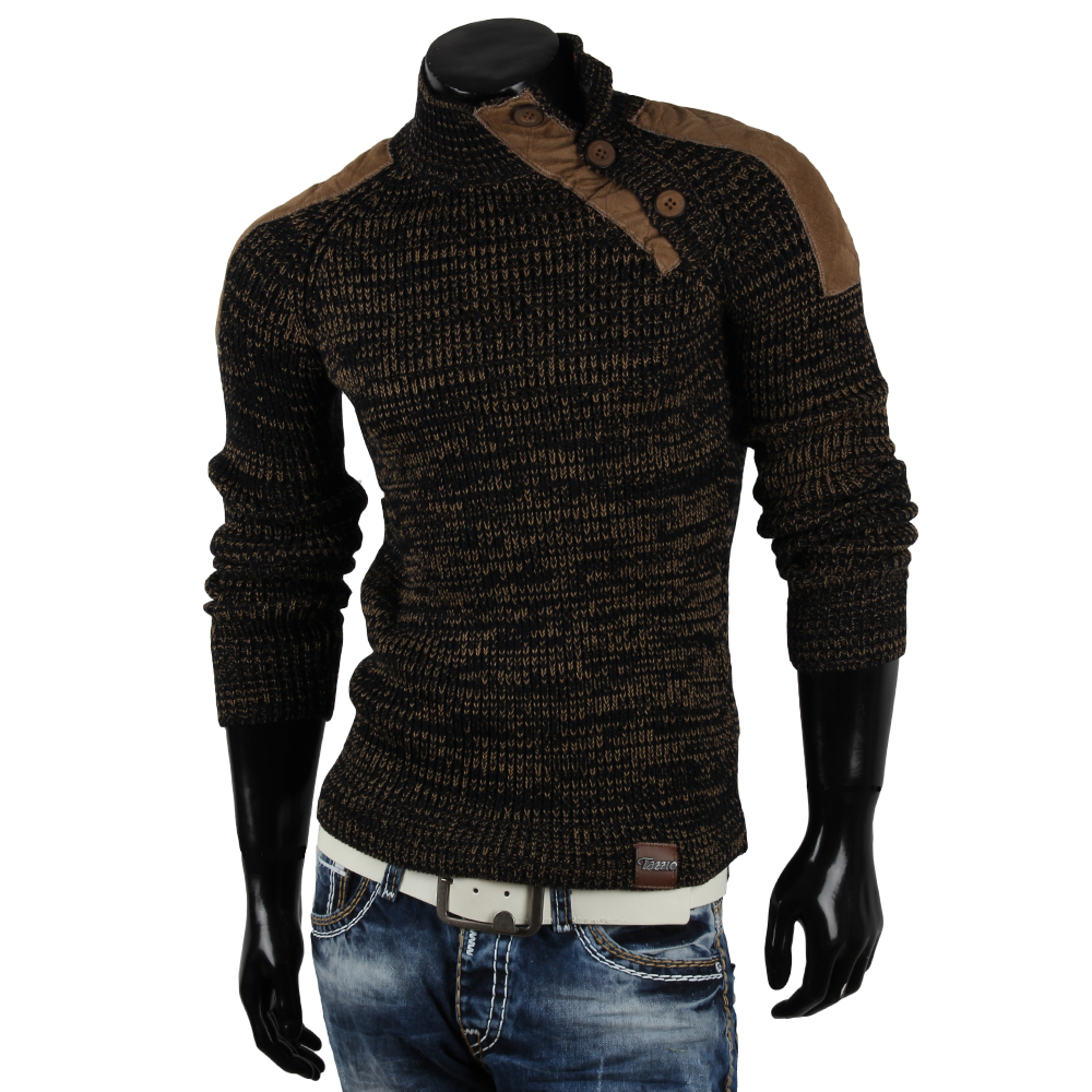 tazzio herren pullover 85246 grobstrick pulli sweatshirt strickjacke jacke neu ebay. Black Bedroom Furniture Sets. Home Design Ideas
