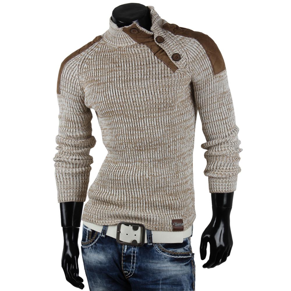 TAZZIO-Herren-Pullover-85246-Grobstrick-Pulli-Sweatshirt-Strickjacke-Jacke-Neu