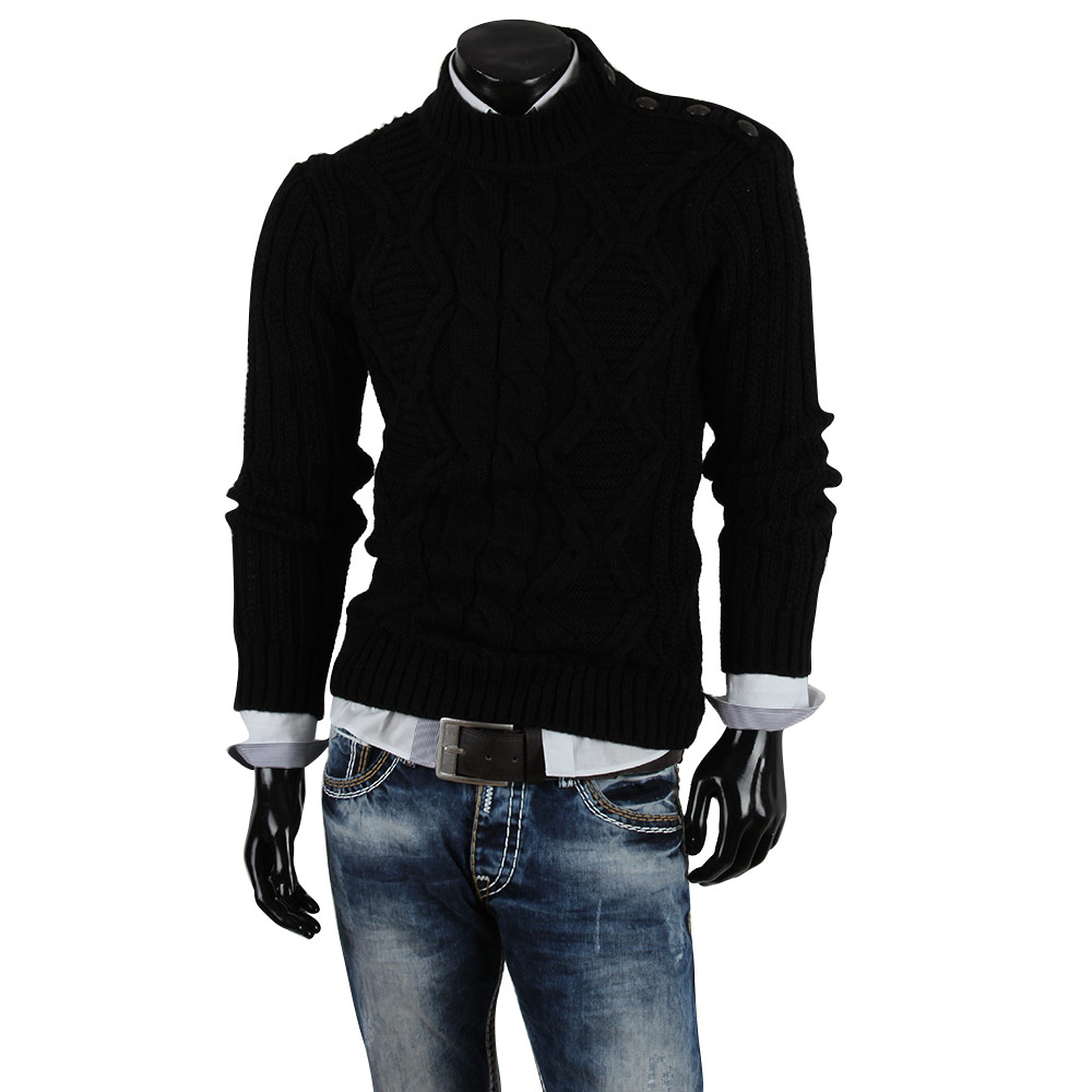 r neal herren pullover 85256 grobstrick winter sweatshirt strickjacke jacke neu ebay. Black Bedroom Furniture Sets. Home Design Ideas