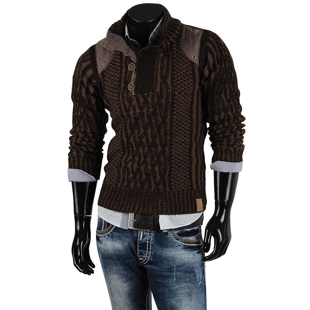 r neal herren pullover 85257 grobstrick winter sweatshirt strickjacke jacke neu ebay. Black Bedroom Furniture Sets. Home Design Ideas