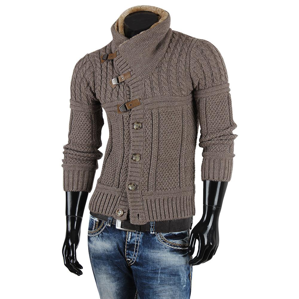 r neal top herren pullover 85258 grobstrick winter sweatshirt strickjacke jacke ebay. Black Bedroom Furniture Sets. Home Design Ideas