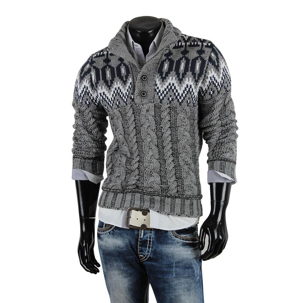 r neal herren pullover 85260 grobstrick winter sweatshirt strickjacke jacke neu ebay. Black Bedroom Furniture Sets. Home Design Ideas
