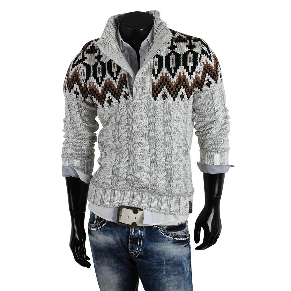 r neal herren pullover 85260 grobstrick winter sweatshirt. Black Bedroom Furniture Sets. Home Design Ideas