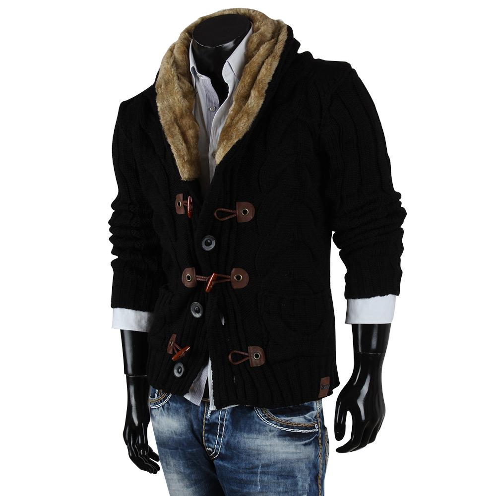 tazzio herren pullover 85265 grobstrick jacke sweatshirt strickjacke winter neu ebay. Black Bedroom Furniture Sets. Home Design Ideas