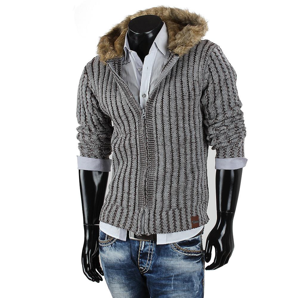 tazzio herren kapuzen pullover 85266 grobstrick sweatshirt. Black Bedroom Furniture Sets. Home Design Ideas