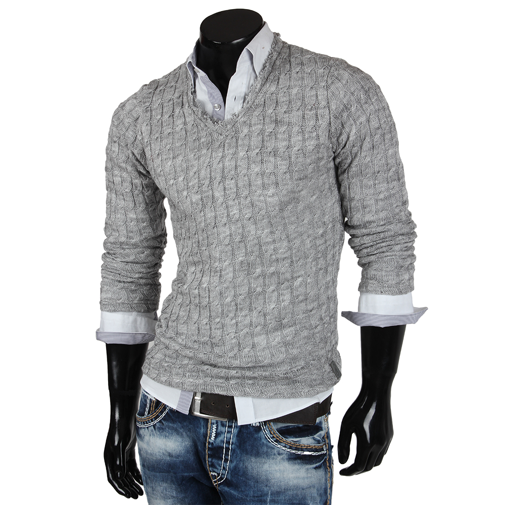 emimay herren strick pullover 85295 v neck pulli swaetshirt jacke neu ebay. Black Bedroom Furniture Sets. Home Design Ideas