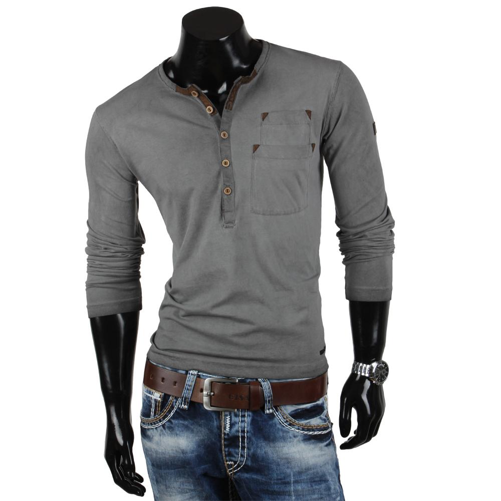 tazzio herren langarm t shirt 85338 longsleeve hemd. Black Bedroom Furniture Sets. Home Design Ideas