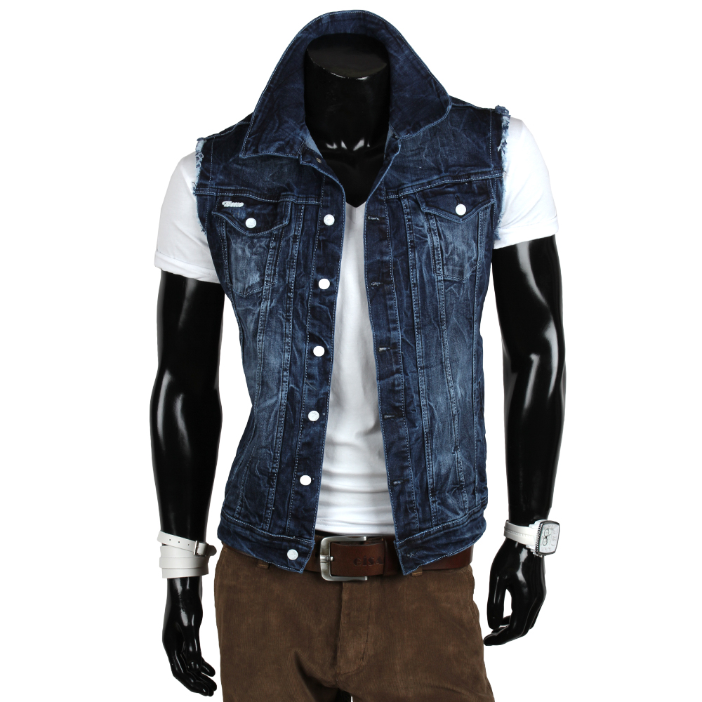 tazzio top herren jeans jacke 85365 denim jacket biker bergangsjacke blau neu ebay. Black Bedroom Furniture Sets. Home Design Ideas