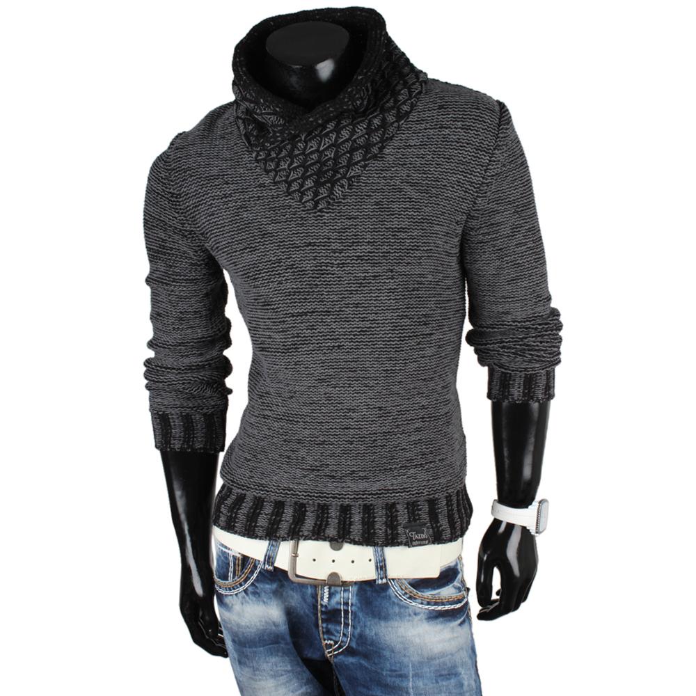 tazzio herren pullover 85371 grobstrick pulli sweatshirt. Black Bedroom Furniture Sets. Home Design Ideas