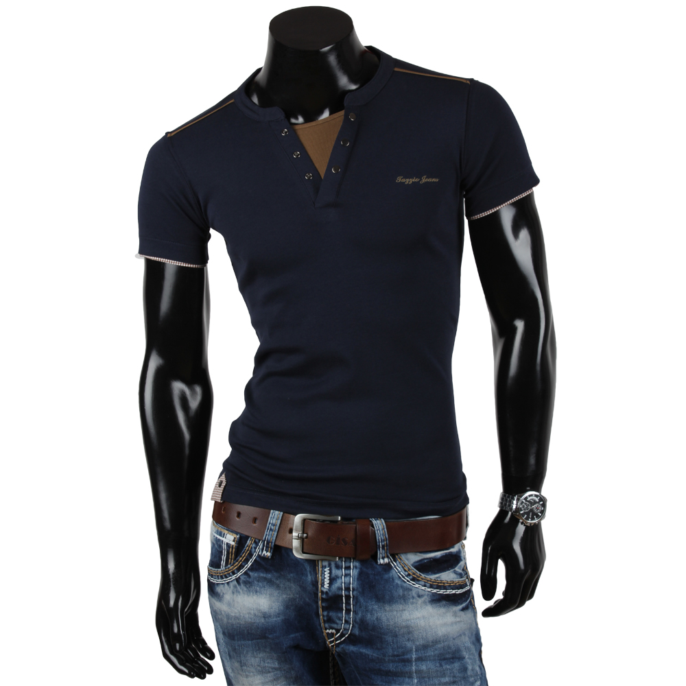 tazzio herren t shirt 85378 slim fit japan style kurzarm. Black Bedroom Furniture Sets. Home Design Ideas
