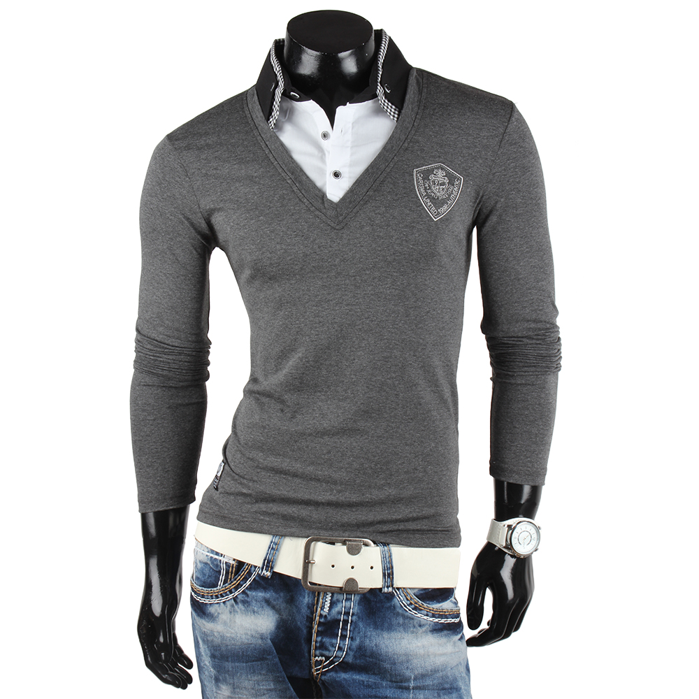 carisma top herren longsleeve 85468 2in1 langarm pullover polo t shirt hemd neu ebay. Black Bedroom Furniture Sets. Home Design Ideas