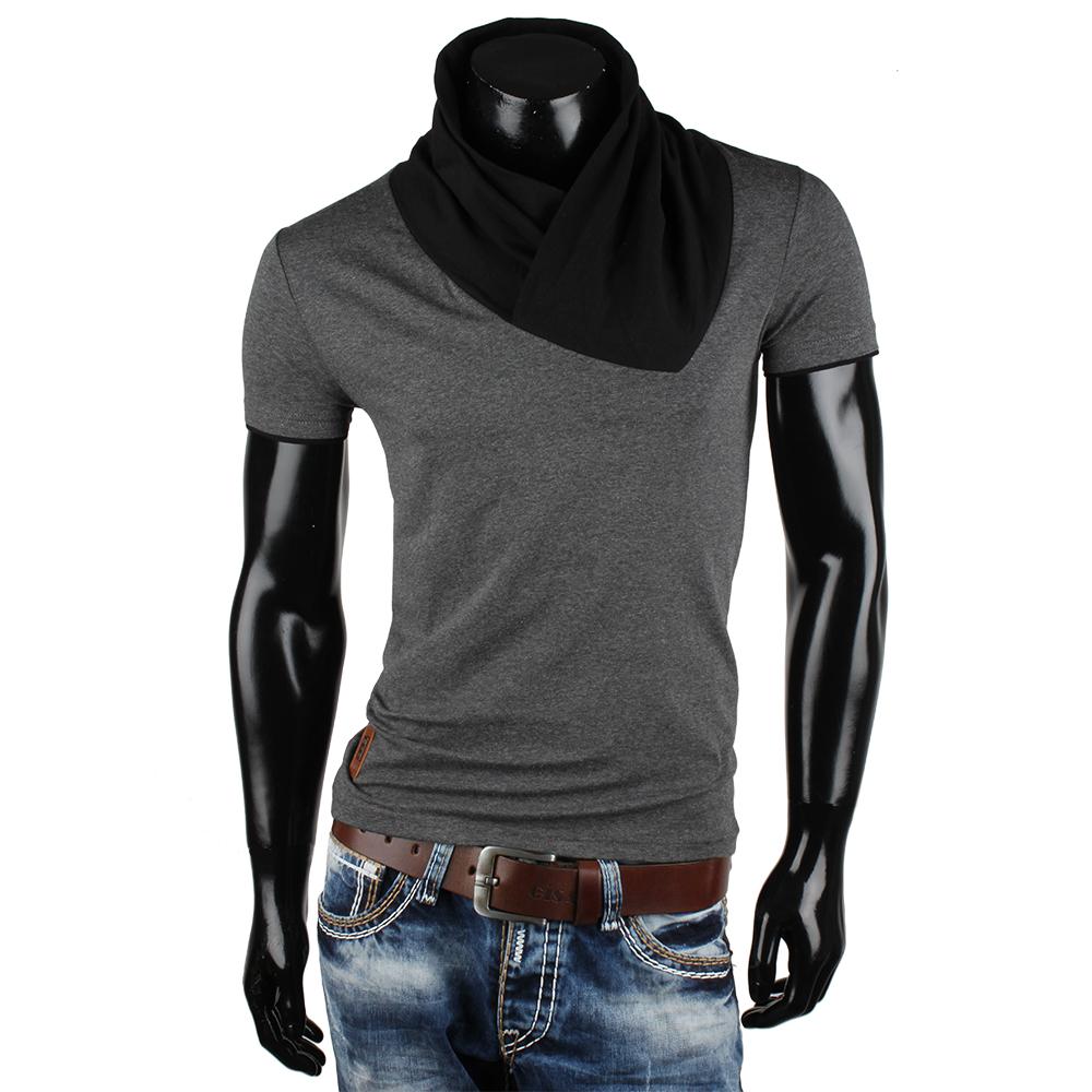 CARISMA Top Herren T-Shirt 85471 Kurzarm High Neck Polo Shirt Hemd Clubwear Neu