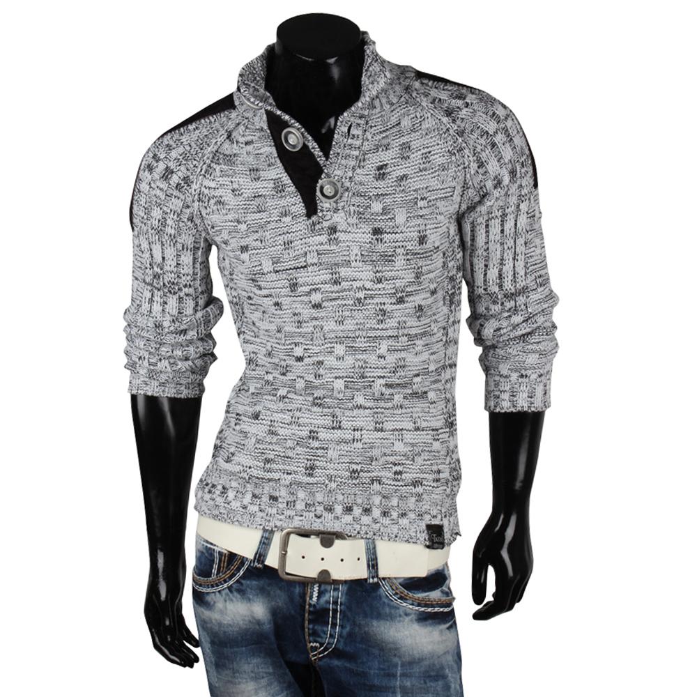 tazzio herren pullover 85246 grobstrick pulli sweatshirt strickjacke jacke neu. Black Bedroom Furniture Sets. Home Design Ideas