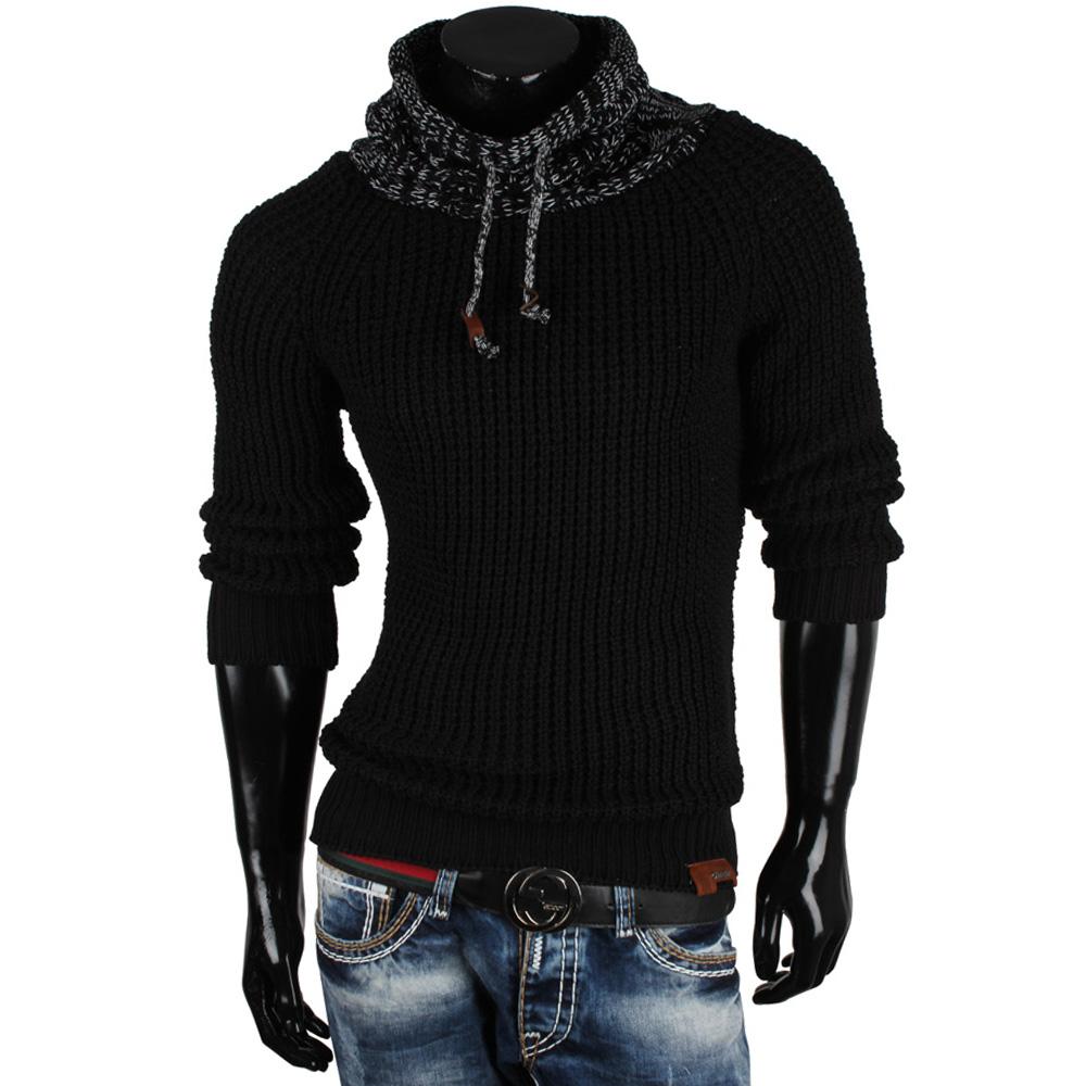 tazzio herren pullover 85602 grobstrick pulli sweatshirt strickjacke jacke neu ebay. Black Bedroom Furniture Sets. Home Design Ideas
