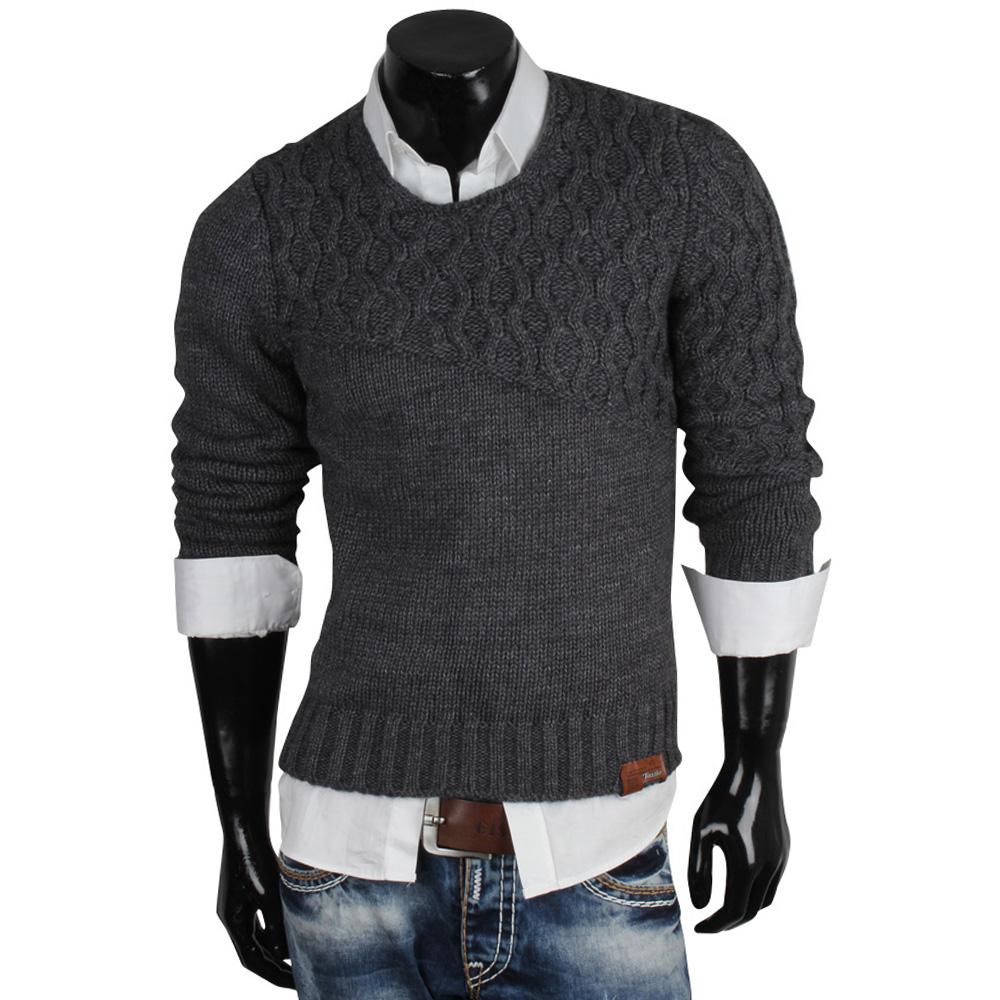 tazzio herren pullover 85613 grobstrick pulli sweatshirt strickjacke jacke neu ebay. Black Bedroom Furniture Sets. Home Design Ideas