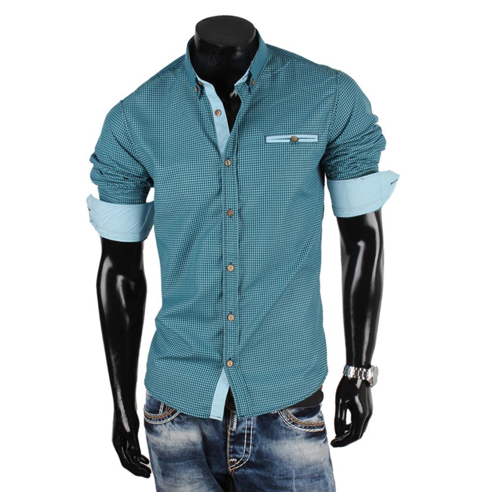 stylische herren hemden 86852 klassisch langarm slim fit polo shirt t. Black Bedroom Furniture Sets. Home Design Ideas