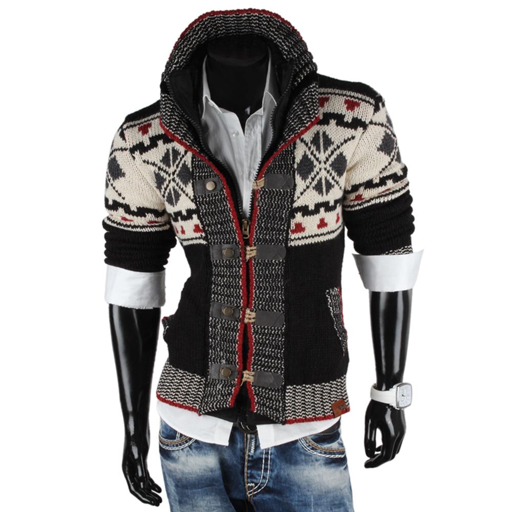 tazzio herren strickjacke 85718 grobstrick jacke sweatshirt pullover winter neu ebay. Black Bedroom Furniture Sets. Home Design Ideas