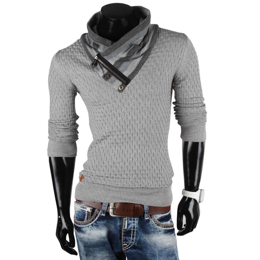 REDBRIDGE by Cipo&Baxx Herren Pullover 85807 Grobstrick Sweatshirt Jacke Neu