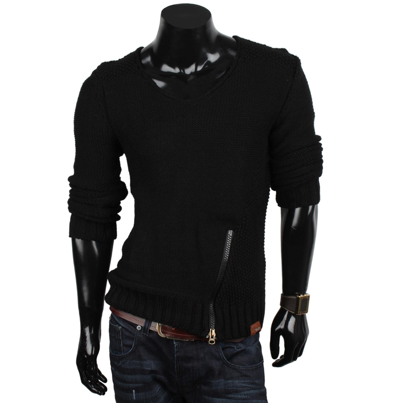 Tazzio herren pullover schal 85862 grobstrick sweatshirt strickjacke pulli neu ebay - Herren schal binden ...