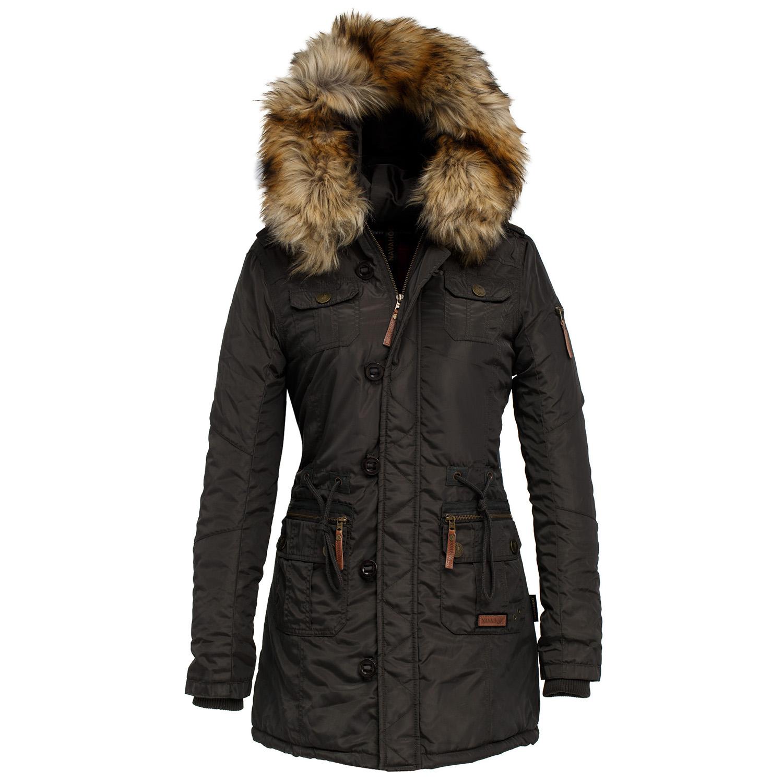 navahoo moon damen winter mantel 86925 jacke parka stepp warm gef ttert neu ebay. Black Bedroom Furniture Sets. Home Design Ideas