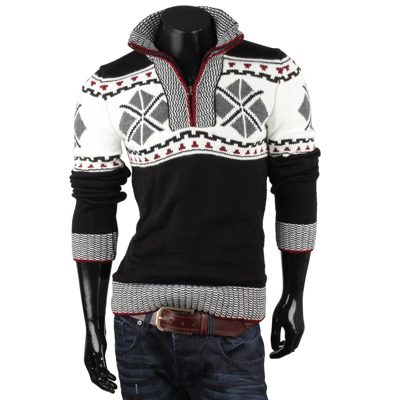 tazzio herren pullover 87042 grobstrick norweger winter neu ebay. Black Bedroom Furniture Sets. Home Design Ideas