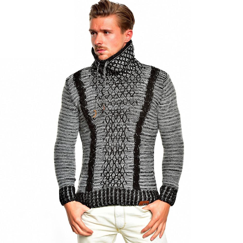 tazzio top herren pullover 85785 grobstrick sweatshirt strickjacke jacke neu ebay. Black Bedroom Furniture Sets. Home Design Ideas
