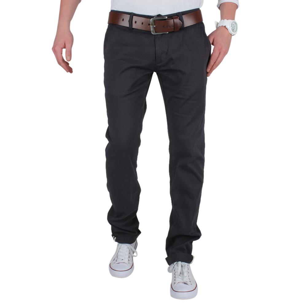 TAZZIO Top Herren Chinohose 85957 Slim Beige Anthrazit Blau Grau Jeans Neu