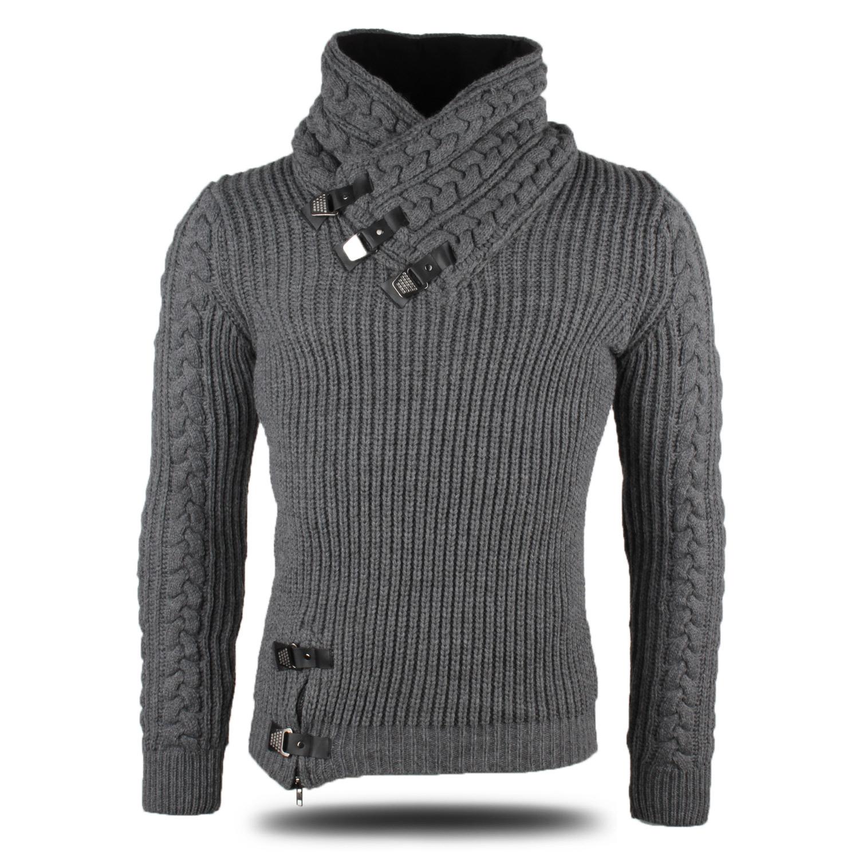 TAZZIO Herren Pullover 86952 Grobstrick Strick Strickjacke Pulli Sweatshirt Neu