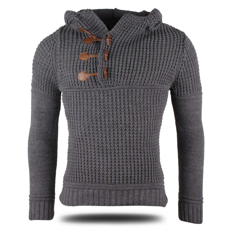 emimay herren kapuzen pullover 86984 grobstrick sweatshirt. Black Bedroom Furniture Sets. Home Design Ideas