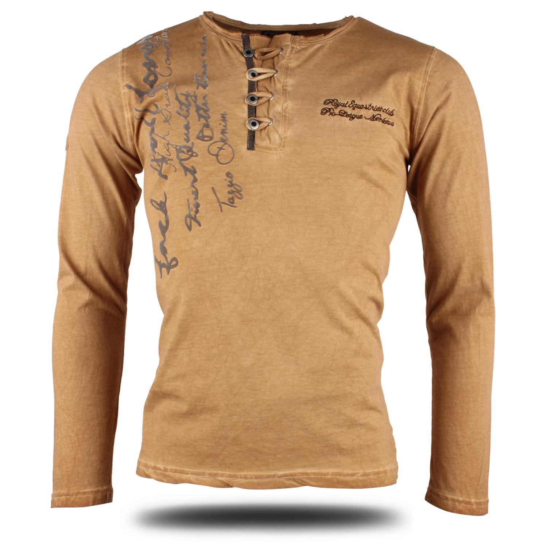 tazzio herren langarm t shirt 86988 longsleeve hemd pullover sweatshirt neu ebay. Black Bedroom Furniture Sets. Home Design Ideas