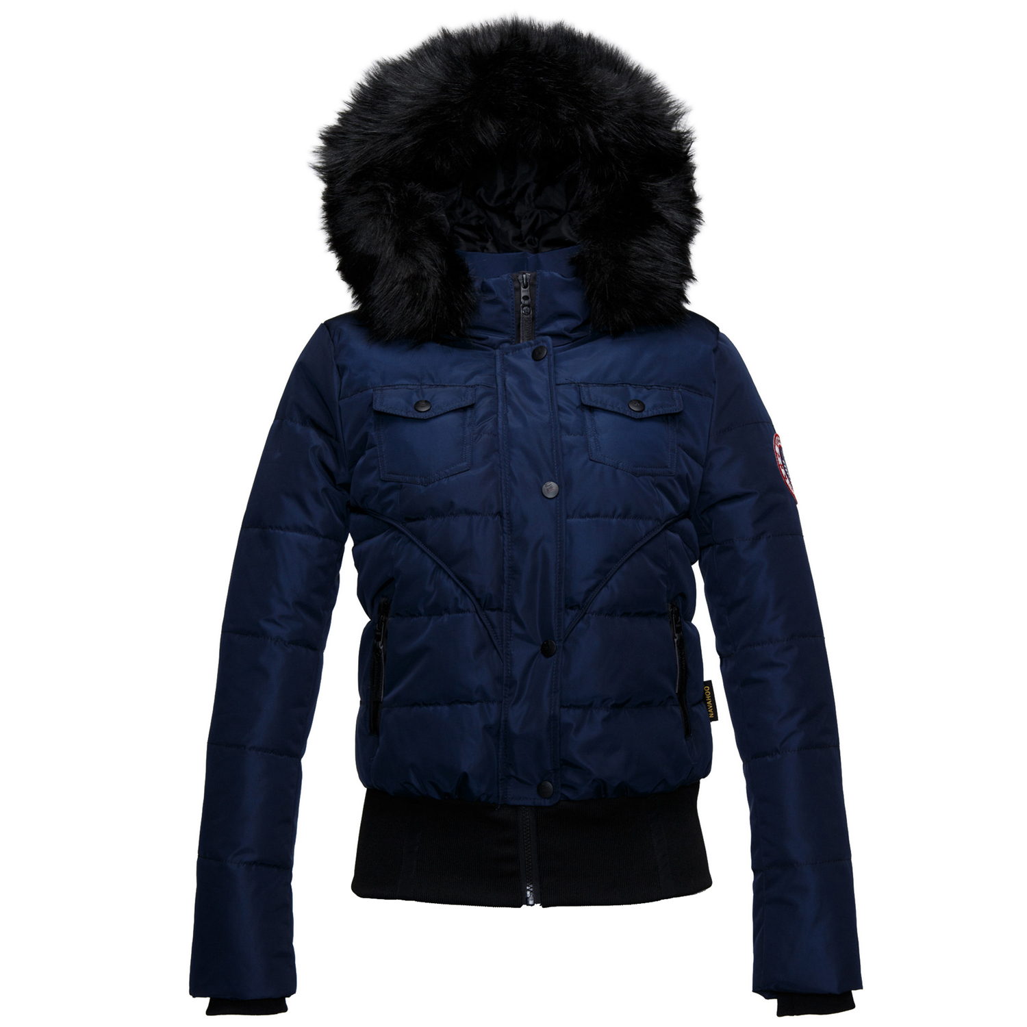 navahoo damen steppjacke 87013 herbst winter mantel parka. Black Bedroom Furniture Sets. Home Design Ideas