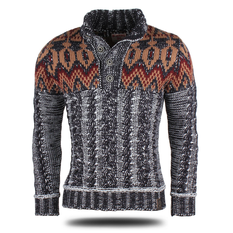 r neal herren pullover 87051 grobstrick winter sweatshirt strickjacke jacke neu ebay. Black Bedroom Furniture Sets. Home Design Ideas
