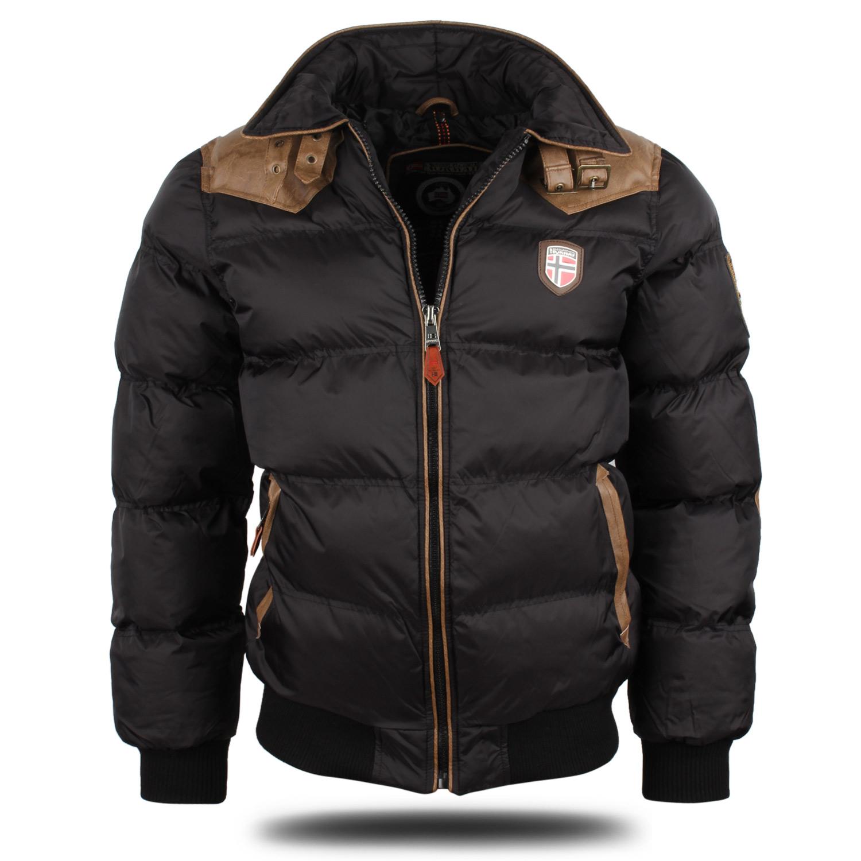 GEOGRAPHICAL NORWAY Top Herren Steppjacke 87121 Warm Winter Parka Mantel Neu